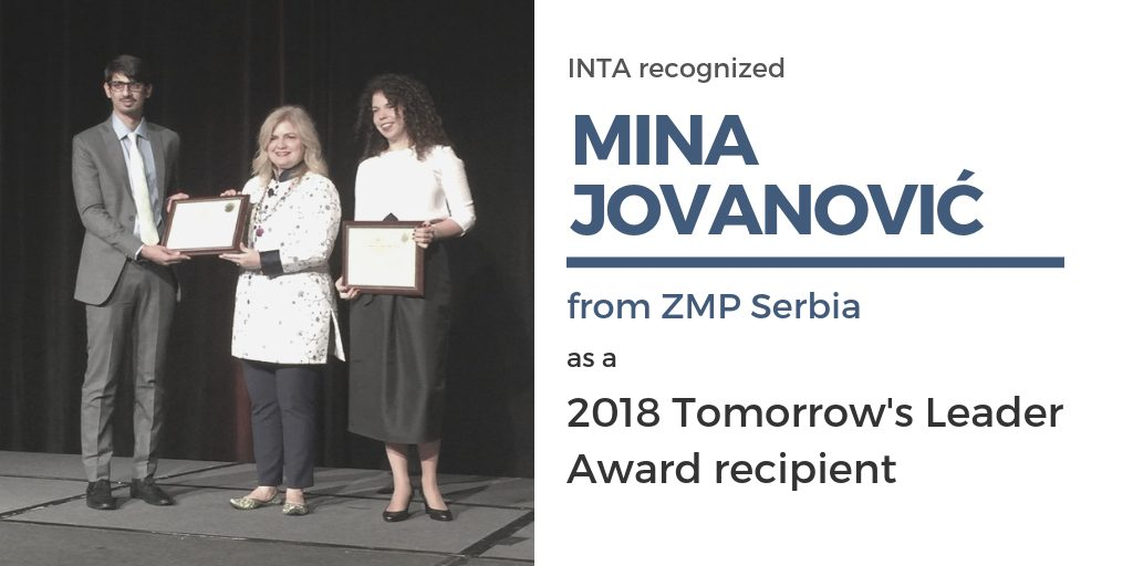 INTA 2018 Tomorrow's Leader Award